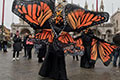 Colombian winners at the Venice Carnival with the Macondo Butterflies