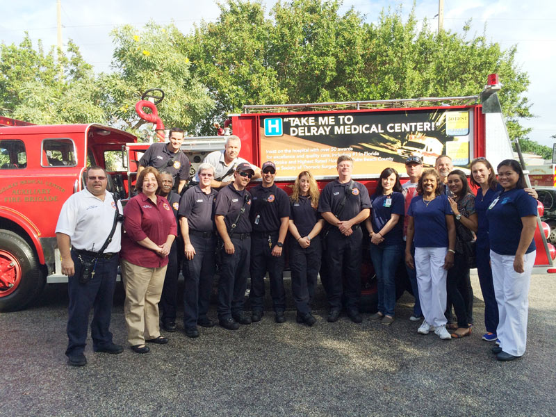 Delray Medical Center And Beach Fire Rescue Donated Thanksgiving Meals To 84 Families